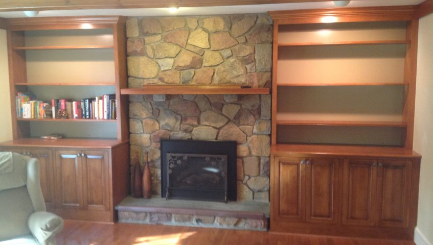 Wall unit stained and painted