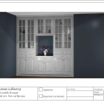 Dining Room Drawing with Realistic Rendering