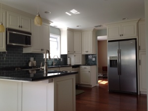 Custom Kitchen with painted cabinets in  King of prussia, pa