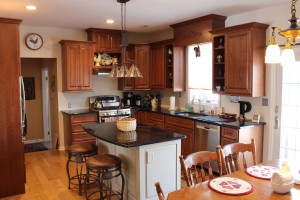 Stained Kitchen Cabinets in Doylestown Pa