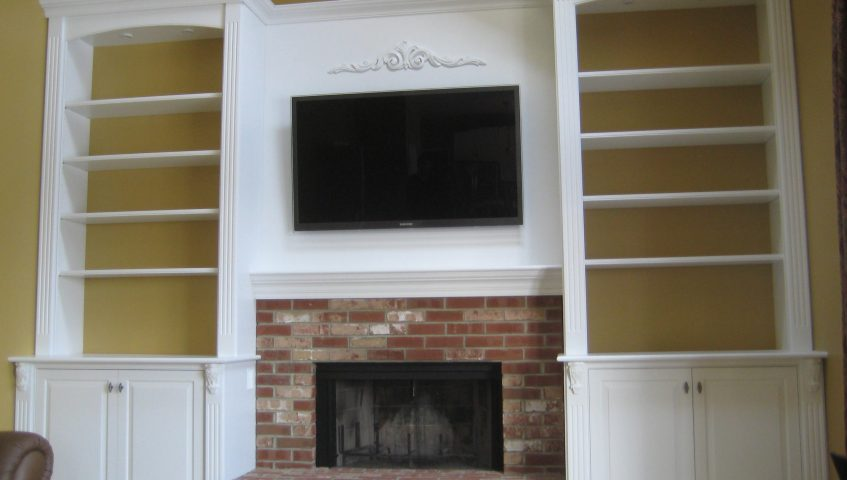 wall units w center tv panel